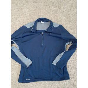 Nike Sphere Dry Pullover Blue 1/4 Zip Medium
